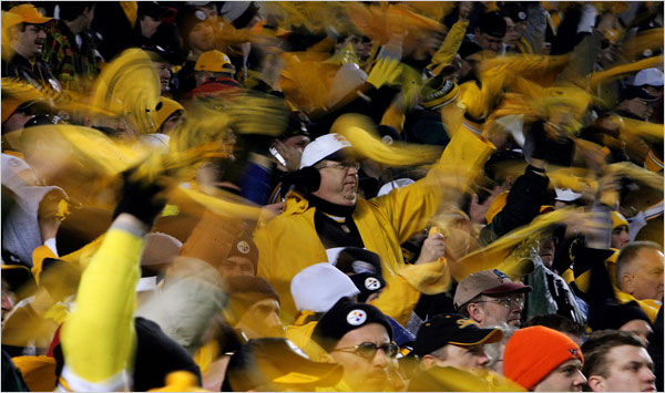 Steelers fans rocking the house